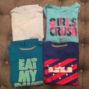4 girl medium Nike t-shirts